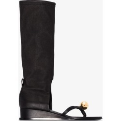 Jil Sander Womens Black Sphere Leather Sandal Boots found on Bargain Bro UK from Browns Fashion