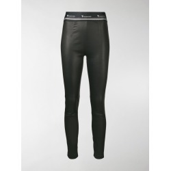 T By Alexander Wang leather logo leggings found on Bargain Bro India from stefania mode for $1087.17