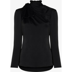 Khaite Womens White Francine Tie Neck Satin Top found on MODAPINS from Browns Fashion for USD $978.40