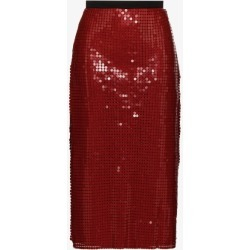Christopher Kane Womens Red Chain Mail Midi Skirt found on MODAPINS from Browns Fashion for USD $1682.84
