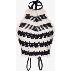 Gucci Womens Blue Crochet-knit Tank Top found on Bargain Bro UK from Browns Fashion