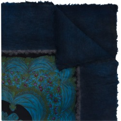 Avant Toi floral print detail scarf - Blue found on MODAPINS from FarFetch.com- UK for USD $996.47