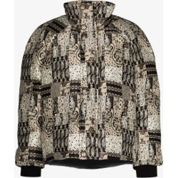 Etro Womens Black Jacquard Cropped Puffer Jacket found on Bargain Bro UK from Browns Fashion