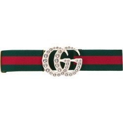 2bfc782d517 Gucci Web elastic belt with embellished GG - Green found on MODAPINS from  FarFetch.com