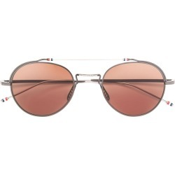 7e64d949afcc Thom Browne Eyewear BLACK IRON   SILVER SUNGLASSES found on MODAPINS from  FarFetch.com -