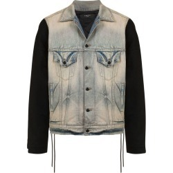 Amiri contrast sleeve denim jacket - Blue found on MODAPINS from FARFETCH.COM Australia for USD $1242.07