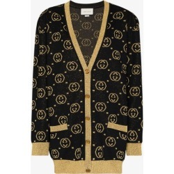 Gucci Womens Black Gg Supreme Lamé Cardigan found on Bargain Bro UK from Browns Fashion