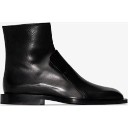 Jil Sander Womens Black Leather Flap Ankle Boots found on Bargain Bro UK from Browns Fashion