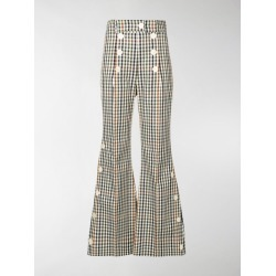 A.W.A.K.E. Mode gingham check flared trousers found on Bargain Bro UK from MODES GLOBAL
