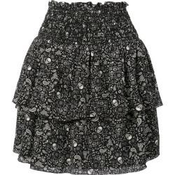 Saint Laurent printed ruffle trim mini skirt - Black found on Bargain Bro UK from FarFetch.com- UK