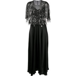 Paco Rabanne detachable-cape embellished satin dress found on MODAPINS from MODES GLOBAL for USD $1383.52
