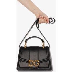 Dolce & Gabbana Womens Black Dg Amore Leather Cross Body Bag found on Bargain Bro UK from Browns Fashion