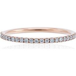 Ileana Makri rose gold thread band P-D ring - Metallic found on Bargain Bro India from FarFetch.com - US for $1652.00