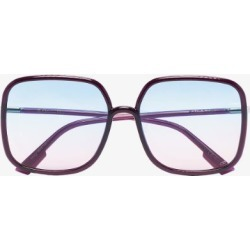 Dior Eyewear Womens Black Purple Square Ombré Sunglasses found on Bargain Bro UK from Browns Fashion