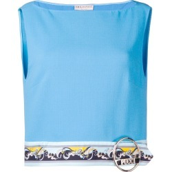 Emilio Pucci Blue Contrast Hemline Cropped Top found on Bargain Bro India from FarFetch.com - US for $980.00