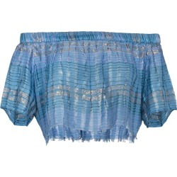 A Peace Treaty Arima Crop Top - Blue found on MODAPINS from FARFETCH.COM Australia for USD $105.53