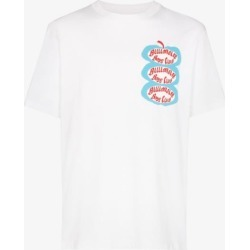 Billionaire Boys Club Mens White Apple Print Cotton T-shirt found on MODAPINS from Browns Fashion for USD $107.14