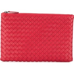6eb040900338 Bottega Veneta woven leather pouch - Red found on MODAPINS from  FarFetch.com - US