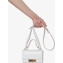 Alexander Mcqueen Womens White Skull Lock Small Leather Shoulder Bag found on Bargain Bro UK from Browns Fashion