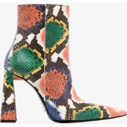 Area Womens Orange Multicoloured 90 Snake Print Ankle Boots found on MODAPINS from Browns Fashion for USD $1001.97