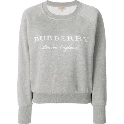 Burberry Embroidered Cotton Blend Jersey - Grey