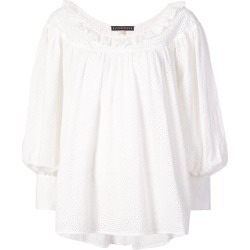 Alexa Chung embroidered long-sleeve blouse - White found on MODAPINS from FARFETCH.COM Australia for USD $290.04