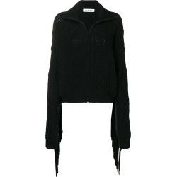 Almaz fringed sleeve zipped cardigan - Black found on MODAPINS from FarFetch.com - US for USD $557.00