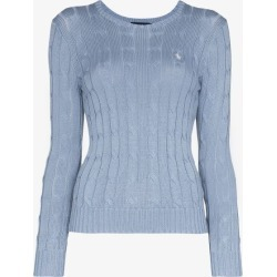 Polo Ralph Lauren Womens Blue Polo Ralph L Julianna Classic Jmpr Crwnk found on Bargain Bro UK from Browns Fashion