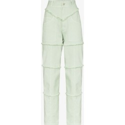 Ambush Womens Green Panelled High Waist Jeans found on MODAPINS from Browns Fashion for USD $444.63