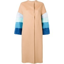 Ava Adore fur sleeves coat - Neutrals found on MODAPINS from FarFetch.com- UK for USD $1245.24