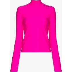 Palm Angels Womens Pink Mock Neck Performance Top found on Bargain Bro UK from Browns Fashion
