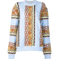 Aalto contrast knit sweater - Blue found on MODAPINS from FarFetch.com- UK for USD $497.27