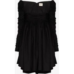 Khaite Womens Black Sueanne Ruched Sleeve Empire Mini Dress found on MODAPINS from Browns Fashion for USD $2126.38