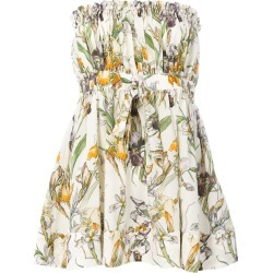 Alexander McQueen flared floral bandeau top - Neutrals found on Bargain Bro India from FarFetch.com - US for $927.00