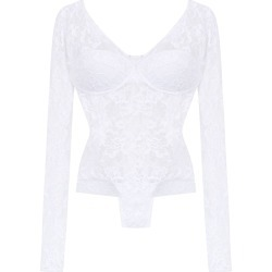 Amir Slama long sleeved lace bodysuit - White found on MODAPINS from FarFetch.com - US for USD $410.00