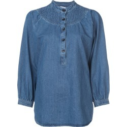 Apiece Apart Fenna stitchwork top - Blue found on MODAPINS from FarFetch.com- UK for USD $303.39