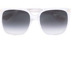 2d7935ef7768ef Gucci Eyewear oversize gradient square sunglasses - White found on MODAPINS  from FarFetch.com -