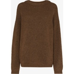 Acne Studios Womens Brown Dramatic Knitted Sweater found on MODAPINS from Browns Fashion for USD $339.18