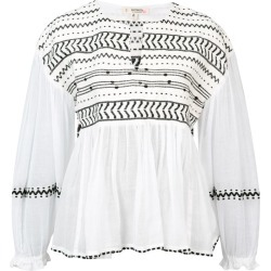 Lemlem Maya embroidered blouse - NEUTRALS found on Bargain Bro Philippines from FARFETCH.COM Australia for $386.10