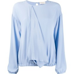 L'Autre Chose draped front blouse - Blue found on Bargain Bro Philippines from FARFETCH.COM Australia for $144.79