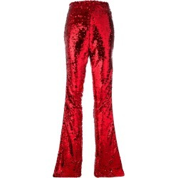 Faith Connexion high-waisted sequin trousers - Red found on MODAPINS from Farfetch:Linkshare:Affiliate:CPA:UK:UK for $1240.47