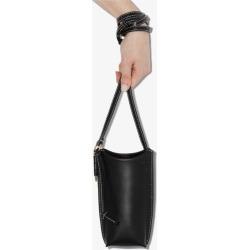 Loewe Womens Black Gate Pocket Leather Bucket Bag found on Bargain Bro UK from Browns Fashion