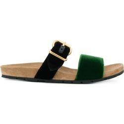 Prada buckled slider sandals - Black