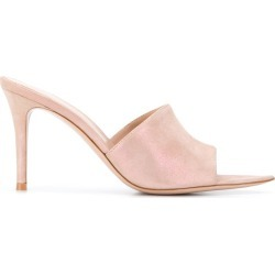 Gianvito Rossi Elle open toe mules - PINK found on Bargain Bro UK from FarFetch.com- UK