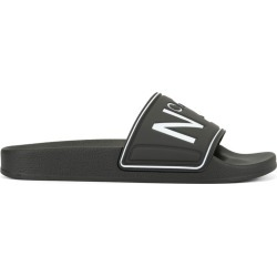 Nº21 logo open-toe slides - Black found on Bargain Bro UK from FarFetch.com- UK for $156.13