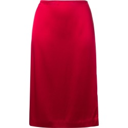 6397 side-slit midi skirt - Red found on MODAPINS from FarFetch.com- UK for USD $186.90