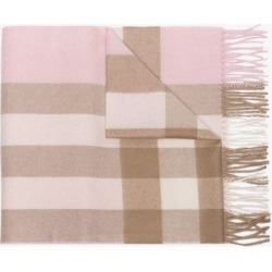Burberry Womens Neutrals White Mega Check Cashmere Scarf found on Bargain Bro UK from Browns Fashion