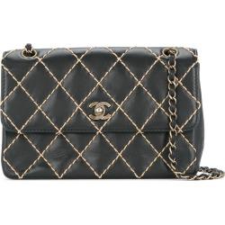 e754c07fc5c75f Chanel Vintage Wild Stitch CC double chain shoulder bag - Black found on  MODAPINS from FarFetch