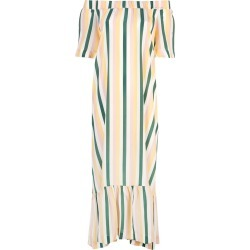 Asceno striped off shoulder dress - Multicolour found on MODAPINS from FarFetch.com- UK for USD $1046.10