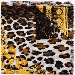 Versace Womens Black Baroque Print Scarf found on Bargain Bro UK from Browns Fashion